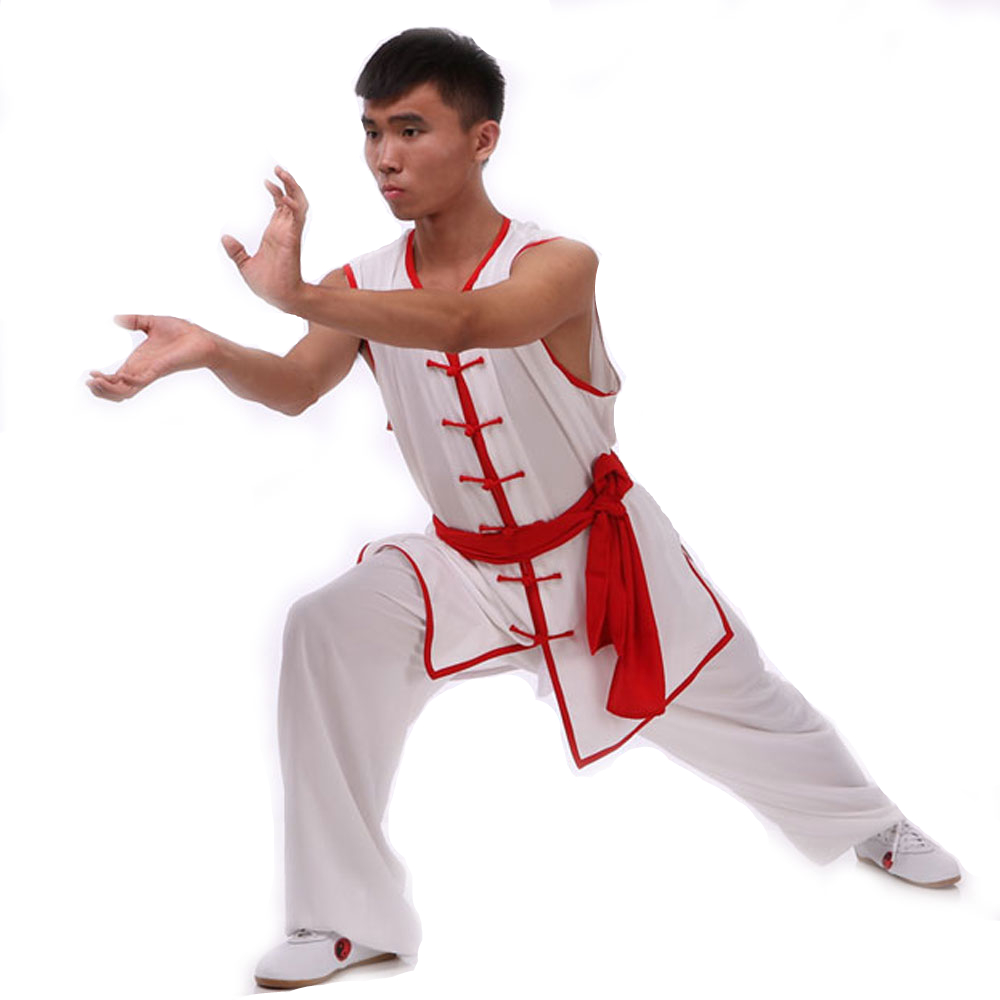 2018 New High Quality Men And Women Martial Arts Clothing White Tai Chi Clothes  Cotton And  Rayon Suit Unisex Kung Fu Sets