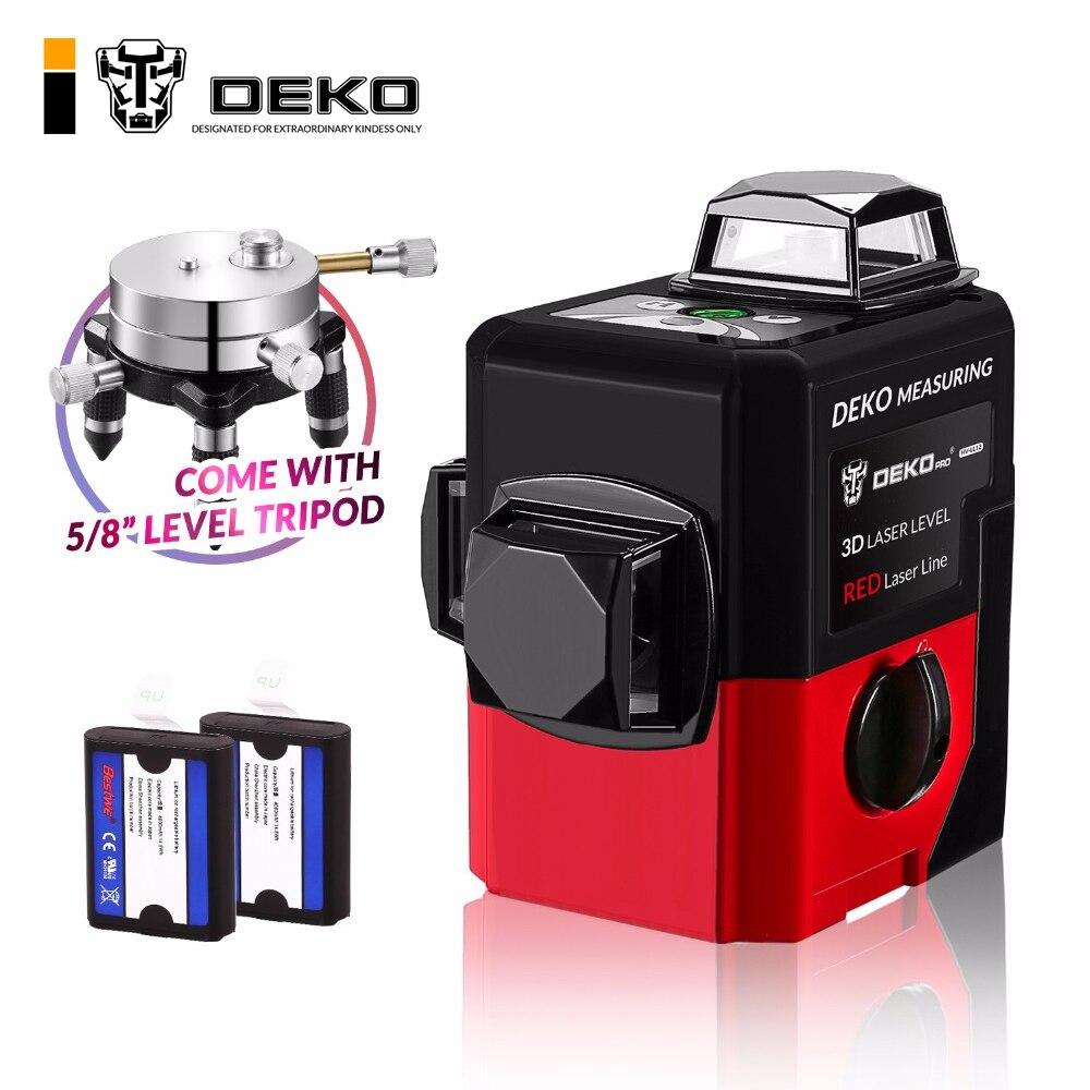 DEKOPRO LL12-HVR 12 Linee 3D Laser Livello Self-Leveling 360 Orizzontale E Verticale Croce Super Potente Raggio Laser Rosso linea