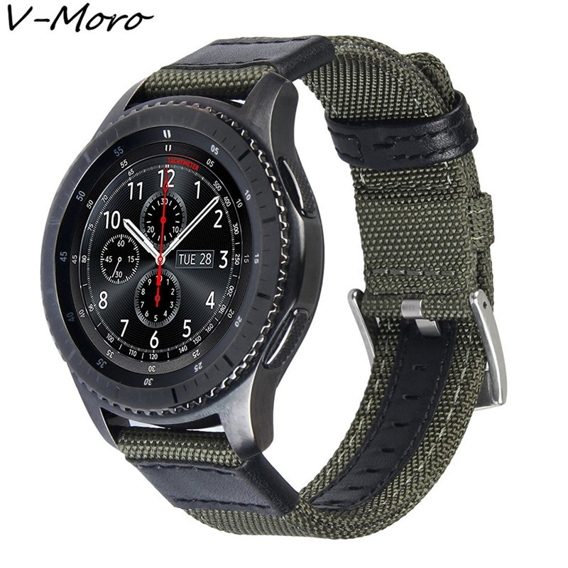 V-MORO 22mm Woven Nylon Watch Strap For Gear S3 Band Replacement Bracelet For Gear S3 Classic Frontier Smart Watch пуловер tony moro tony moro to046emobl41