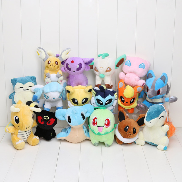 16pcs/set Anime 16 Different style pikachu Plush Character Soft Toy Stuffed Animal Collectible Doll