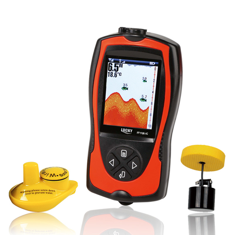 LUCKY Wireless & Wired depth Fishfinder Sonar Transducer Sensor Portable Waterproof Fish Finder Boat Lake Sea Fishing portable fish finder bluetooth wireless echo sounder underwater bluetooth sea lake smart hd sonar sensor depth