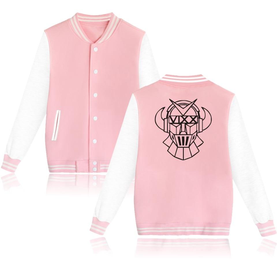 Kpop Vixx Baseball Jacket Plus Size VIXX Logo print Women Men Sweatshirt Clothing Black Gray White VIXX Uniform Clothes Clothing