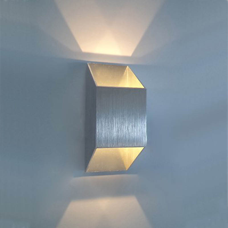new 2w 2 1w led wall light sconce up down recessed lighting fixture modern decor lamp background light step aisle lamp