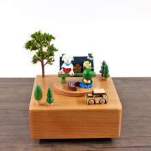 DIY Wooden House Miniaturas with Furniture DIY Miniature House Music House Toys for Children Christmas and Birthday Gift