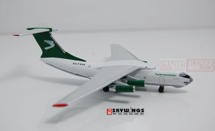 WT4I76008 Witty Turkmenistan Airlines EZ-F428 1:400 IL-76TD commercial jetliners plane model hobby бутылочка happy baby drink up с силиконовой соской с рождения 240 мл