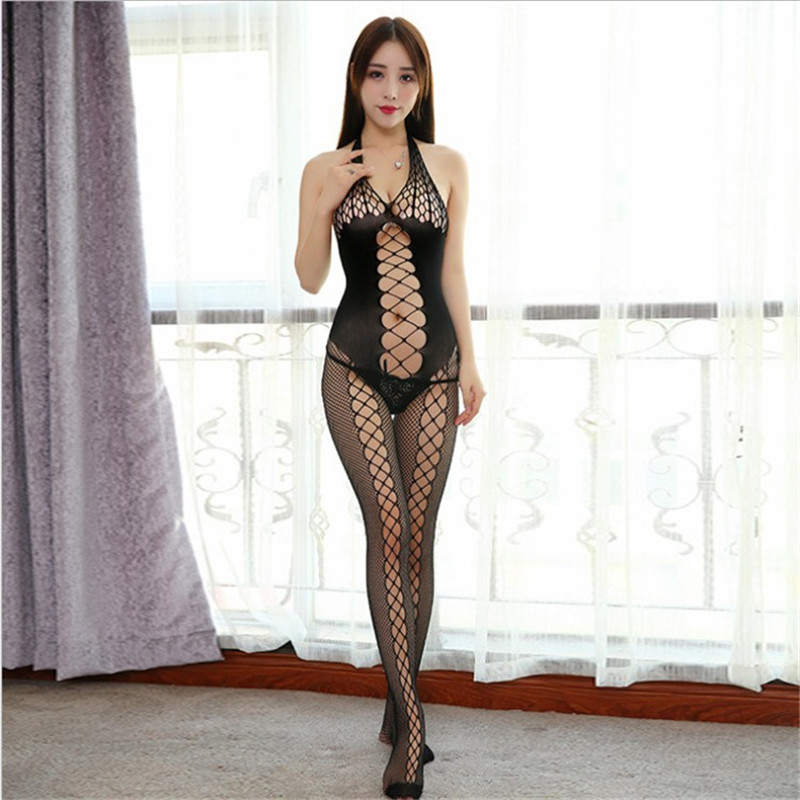 062ef5c6b6a Open Crotch Bodystocking Fishnet Sexy Lingerie Lenceria Sexy Black Mesh  Bodysuit Sex Costumes Erotic Lingerie Sexy Hot 2018