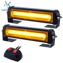 Buy wrecker led and get free shipping on aliexpress baoblaze car tow truck van vehicle led strobe light bar linear grille 16w 2 heads aloadofball Gallery