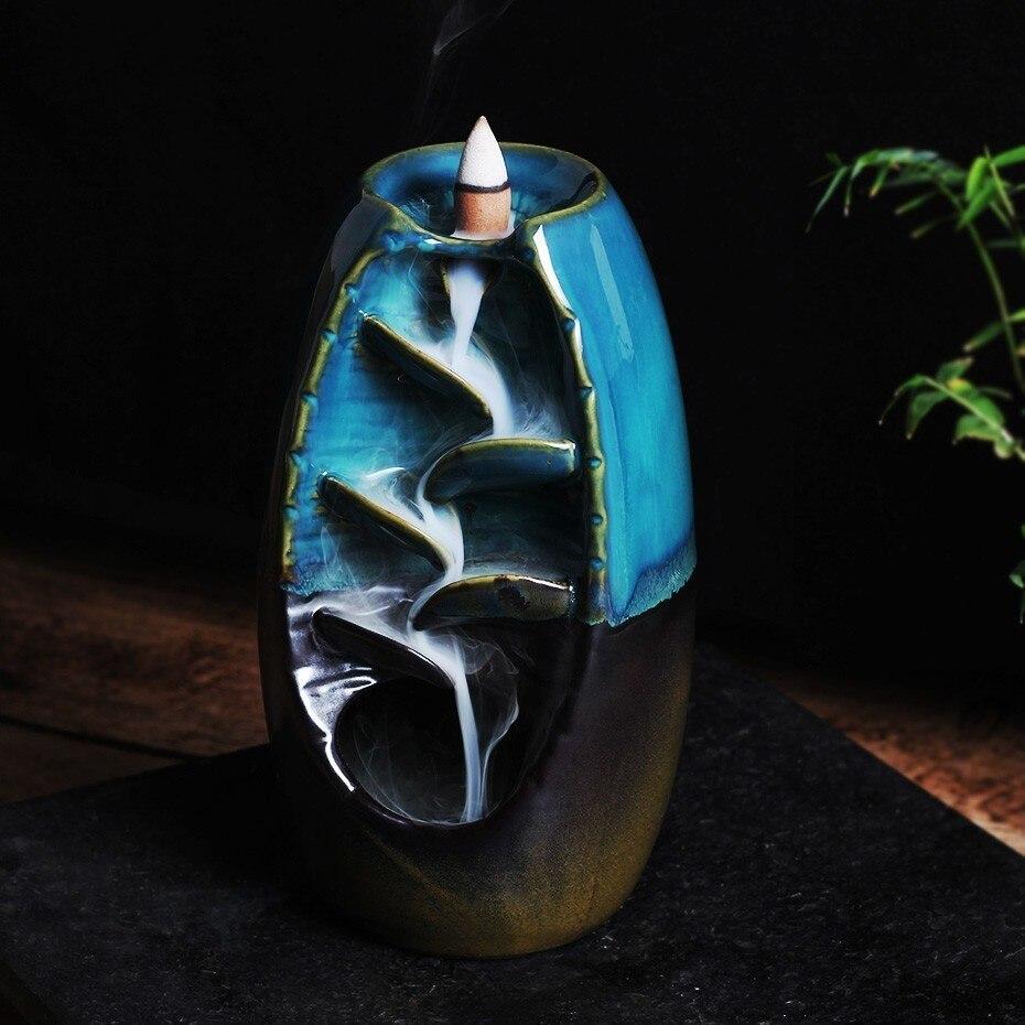 Держатель для ладана керамический обратный поток водопад курильница для дыма держатель для курильщика подарок для матери домашний Декор Р...