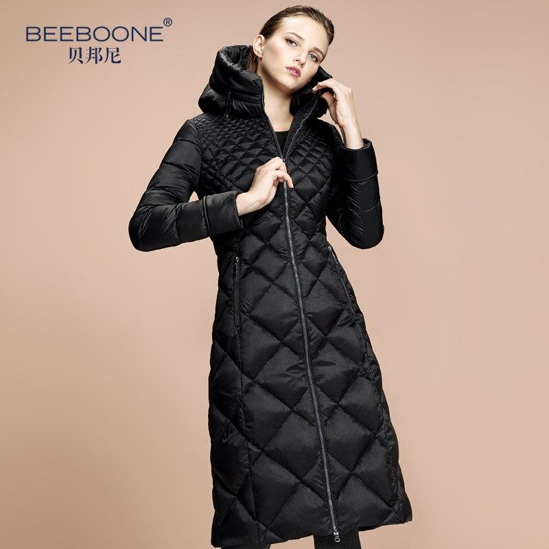 Beeboone Herbst und Winter schlank mit einer Kapuze über dem Knie - Damenbekleidung - Foto 3