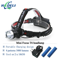led headlamp Rechargeable XML T6 CREE Headlight 18650 Battery and  Charger LED Head Light Bike Camp Hike 3000 Lumens