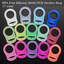 1Pcs Baby Pacifier Holder Adapter Rings Silicone Mam Pacifier Clips Attache Sucette NUK Nipple Soother Chupeta Para Bebe(China)