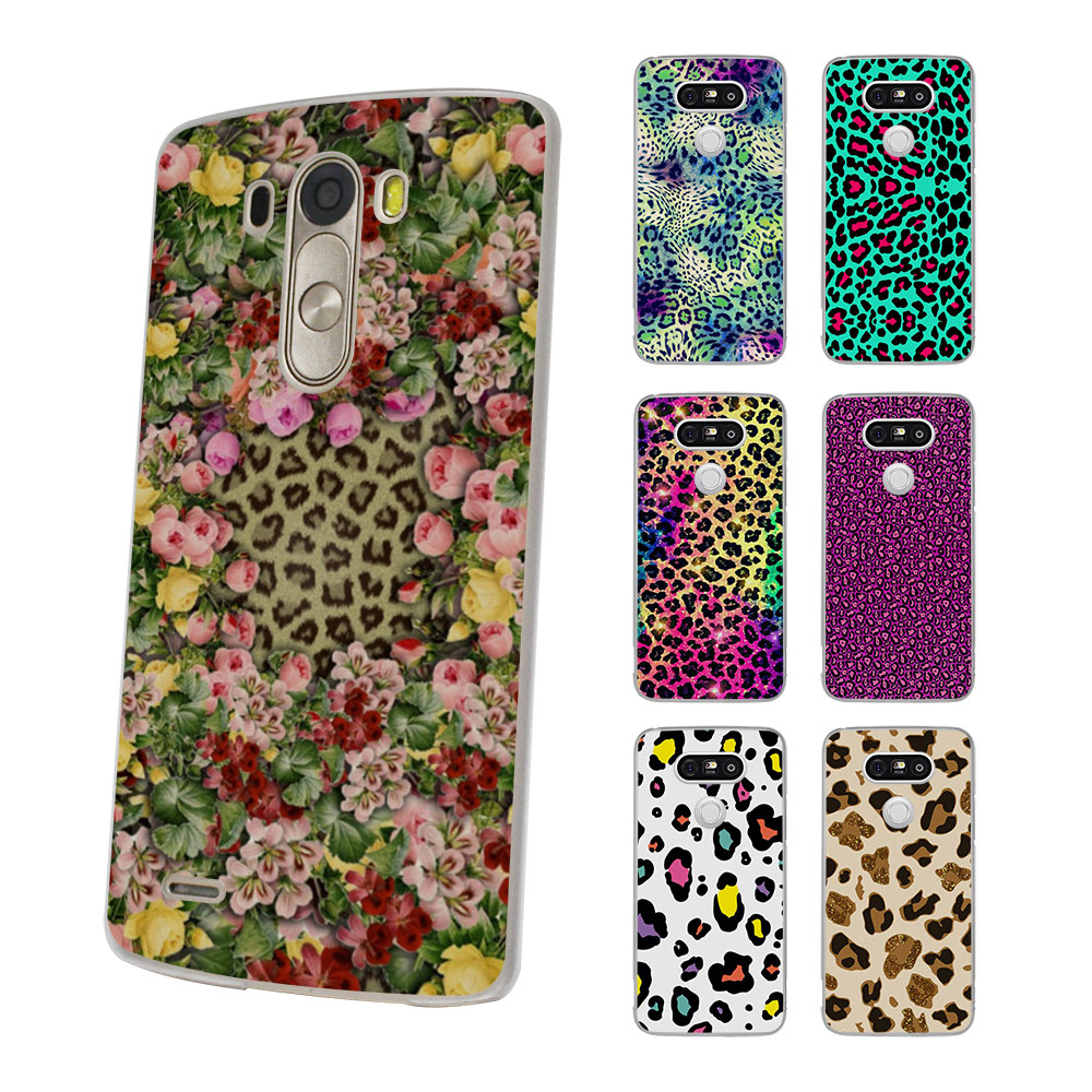 Luxury fashion животных леопардовый цвет кожи Стиль Жесткий Тонкий Ясно Мобильный телефон чехол для LG G6 G5 G4 K8 2017 K10 K5 V10 V20