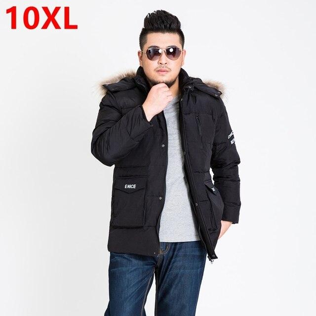 Зима новый добавить удобрения для увеличения размера кода пуховик, БОЛЬШОЙ РАЗМЕР пуховик, человек носить пуховик 7XL 9XL