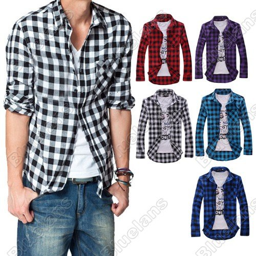 Compare Prices on Casual Check Shirts for Men- Online Shopping/Buy ...