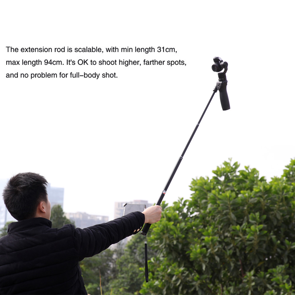 DJI OSMO Extension Pole Rod Scalable Extension Stick for DJI Osmo &DJI Osmo &DJI + OSMO Mobile Handheld Gimbal Accessories 12