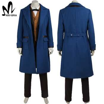 Fantastic Beasts and Where to Find Them Newt Scamande cosplay costume Christmas magical wizard cosplay costumes adult