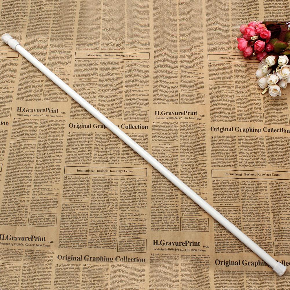 70 124cm Extendable Extending Telescopic Rod Pole Spring Net Shower Curtain  Rod(China (