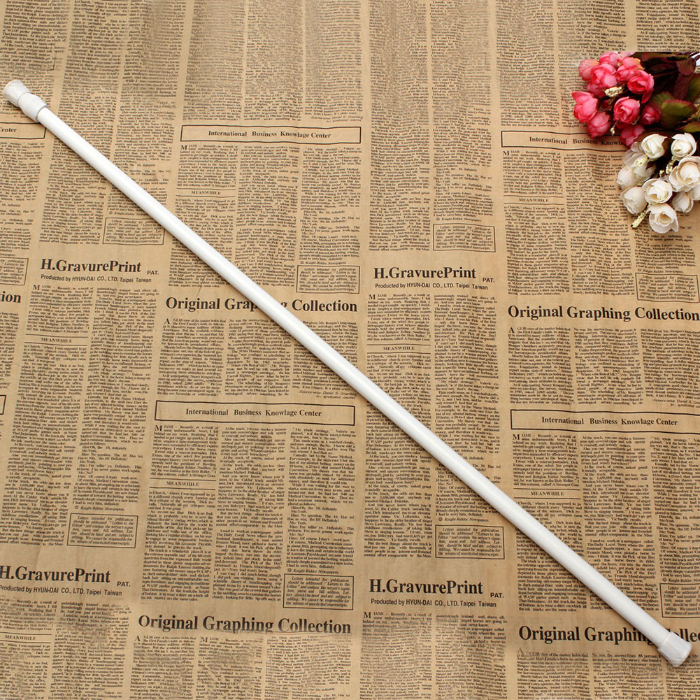 70-124cm Extendable Extending Telescopic Rod Pole Spring Net Shower Curtain Rod