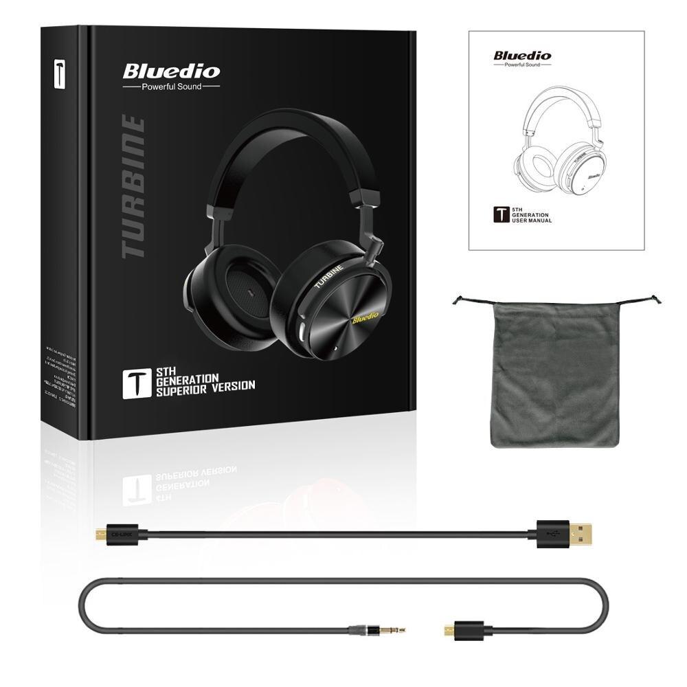 Bluedio T5 HiFi actif suppression de bruit casque sans fil bluetooth sur l'oreille casque avec microphone pour téléphones xiaomi huawei - 6