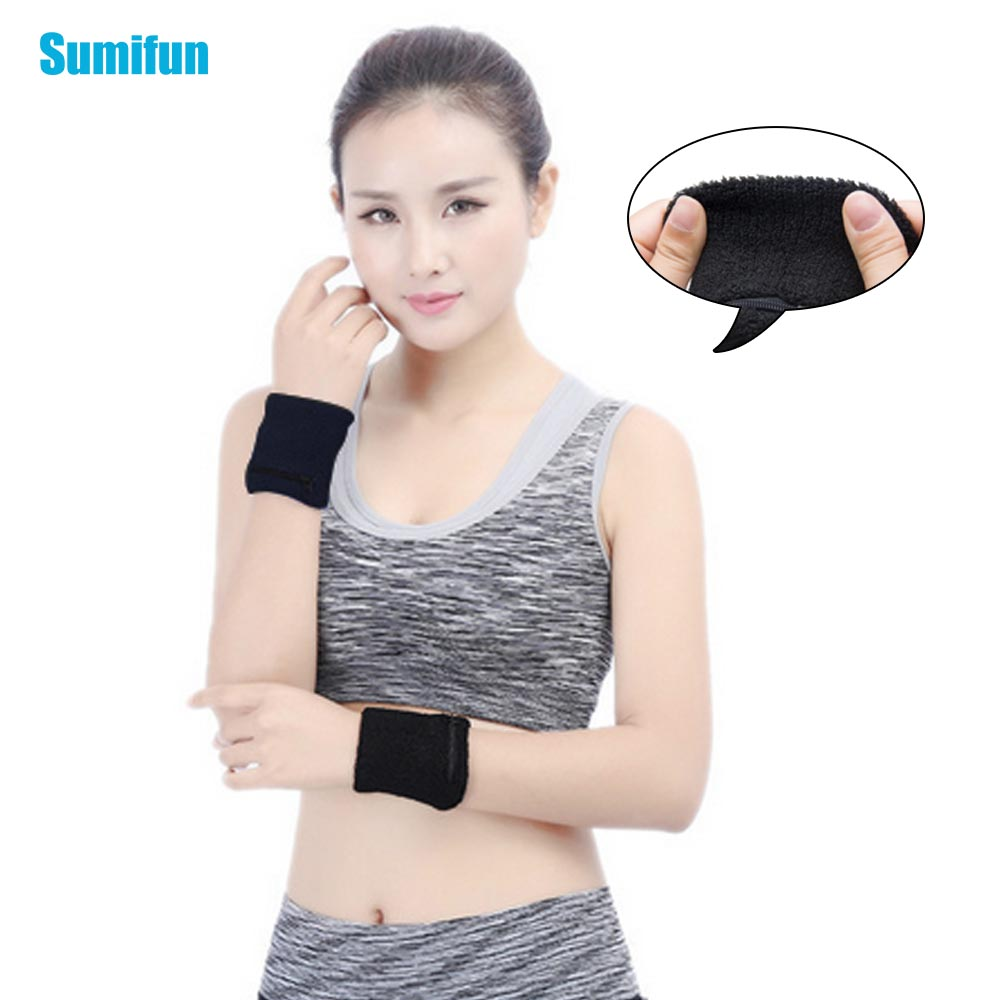 Wrist Support Wallet With Zipper Pocket Towel Movement Wipe Sweat Warm Wrist Z775