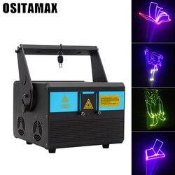 Światło laserowe 1W pokaz laserowy RGB System 1 pełnokolorowy projektor laserowy animacja stroboskopowa