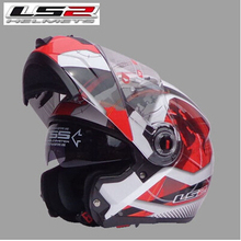Free shipping dual lens LS2 FF370 motorcycle helmet visor exposing new cost-effective full-face helmet / Red Universe