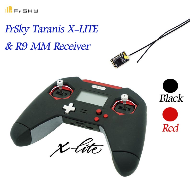 FrSky Taranis X-LITE 2.4GHz ACCST 16CH RC Transmitter Remote Control W/ R9 MM Receiver Red Black For RC Drone Models
