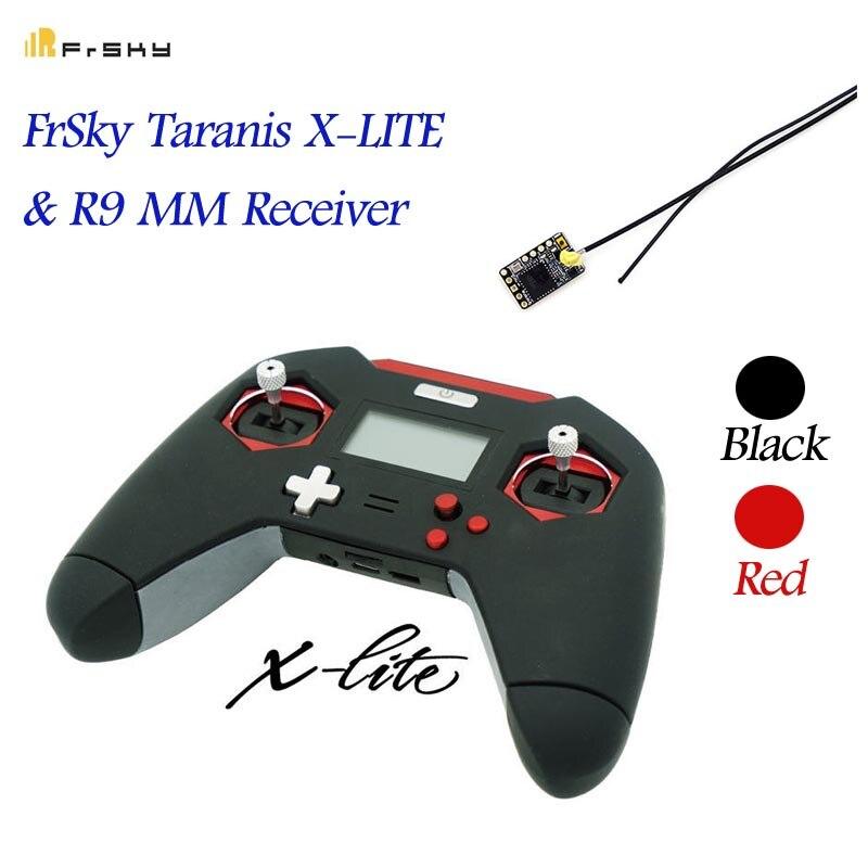 Integrado FrSky Taranis X-LITE 2,4 GHz ACCST 16CH transmisor RC Control remoto W/R9 MM receptor Rojo Negro para RC drone modelos