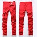 Pantalones Flacos ocasionales Hombre Ropa Moda Hombres Derecho Diseñados Slim Fit Pantalones Pantalones Cremallera de La Manera