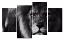 4 Piece Canvas Art Printing Photo the lion Painting Custom Print On Wall Pictures Home Decoration XJ1-249