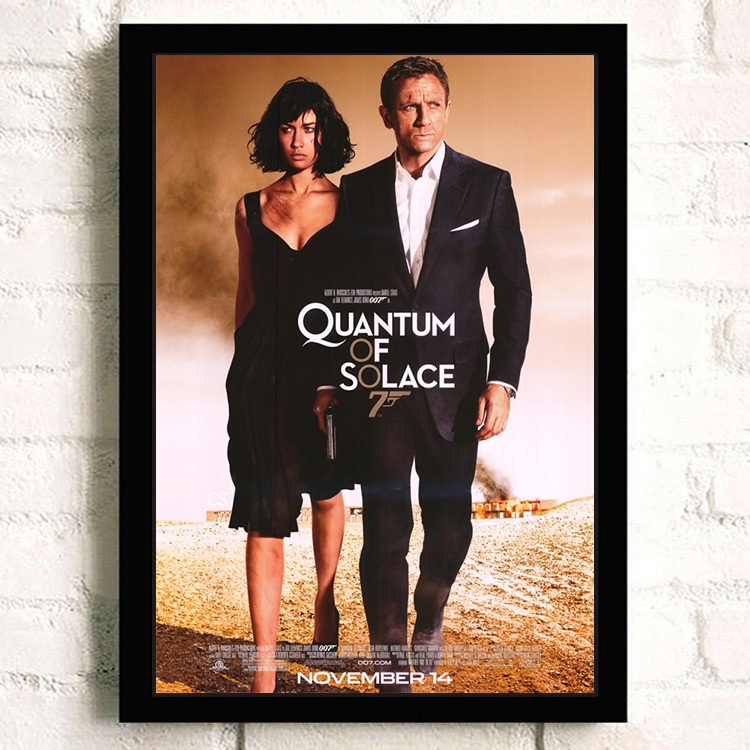 James Bond Quantum of Solace movie advertising advert Metal Sign Wall Plaque a4