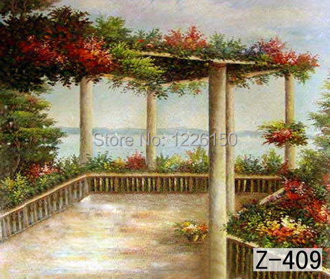 Mysterious scenic Backdrop z-409,10ft x20ft Hand Painted Photography Background,estudio fotografico,backgrounds for photo studio police pl 12893jssb 04