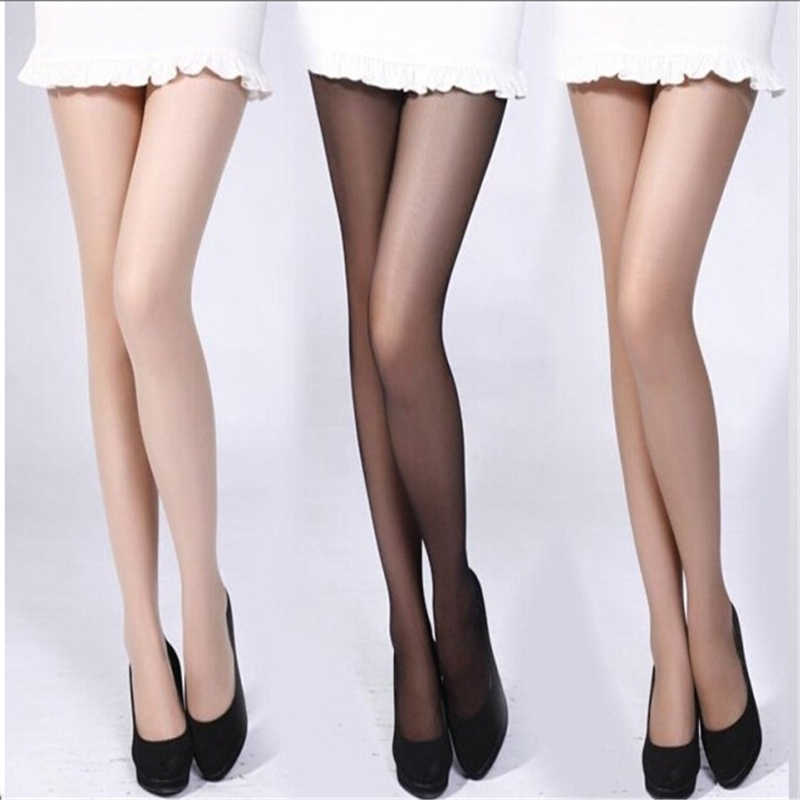 375c75f201f Women 4 Colors Girl Slik Stocking Legs High Hosiery Tights Pantyhose Sexy  Nylon Spandex Lady Transparent
