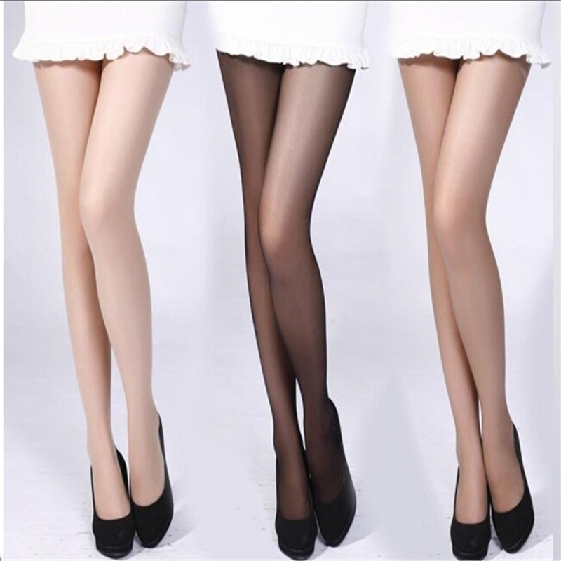 Women 4 Colors Girl Slik Stocking Legs High Hosiery Tights Pantyhose Sexy Nylon Spandex Lady Transparent Thin Female Stockings