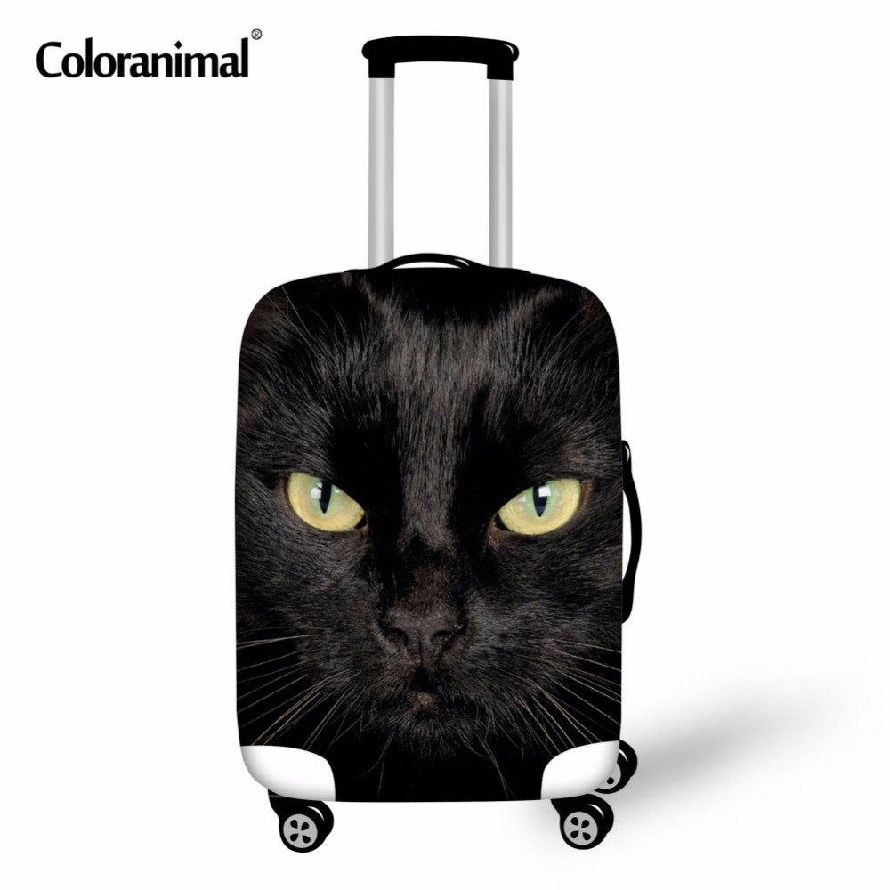Coloranimal Elastic Luggage Protective Covers Apply To 18-30 Inch With Zipper Trolley Suitcase Case Dust  Cover Travel Accessor