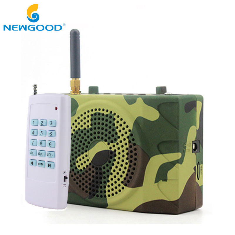 NEWGOOD Bird Caller Outdoor Hunt Duck Decoy Animal Remote Control Hunting Speakers Fm Radio Bird Sound Calls Hunting TF USB Mp3