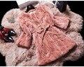 Real Rex Rabbit Fur invierno mujeres largo delgado más el tamaño de abrigo chaqueta de la capa caliente gruesa ropa de abrigo 2015 nueva moda