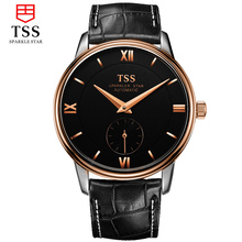TSS Mens Relojes de Primeras Marcas de Lujo 2016 de Los Hombres Del Reloj Del Deporte Mecánico Automático de Cuero Reloj relogio masculino