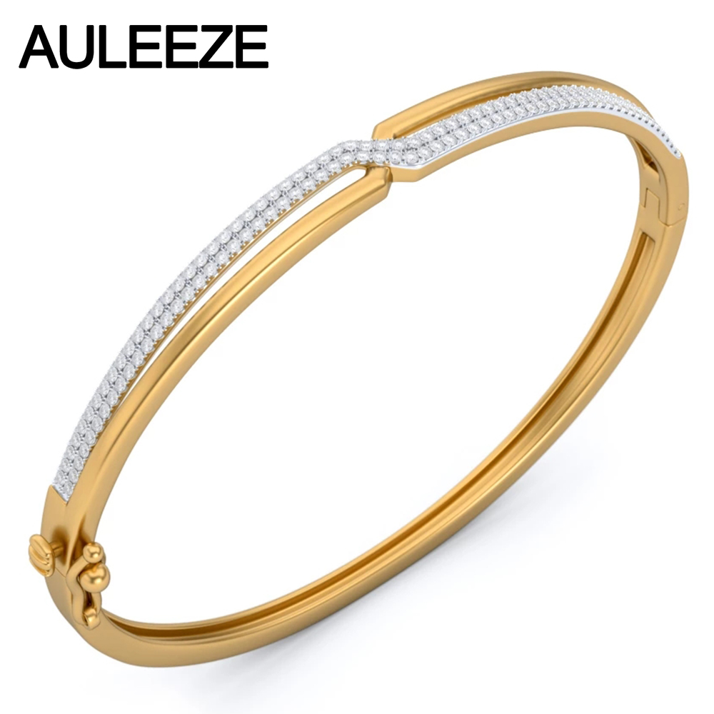 fashion lady item yellow bangles commuter real natural engagement gold diamond bangle fine from bracelets wedding jewelry solid in