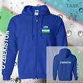 Uzbekistan mens hoodies and sweatshirt jerseys polo sweat suit streetwear tracksuit nation fleece zipper flag Uzbek 2017 UZB