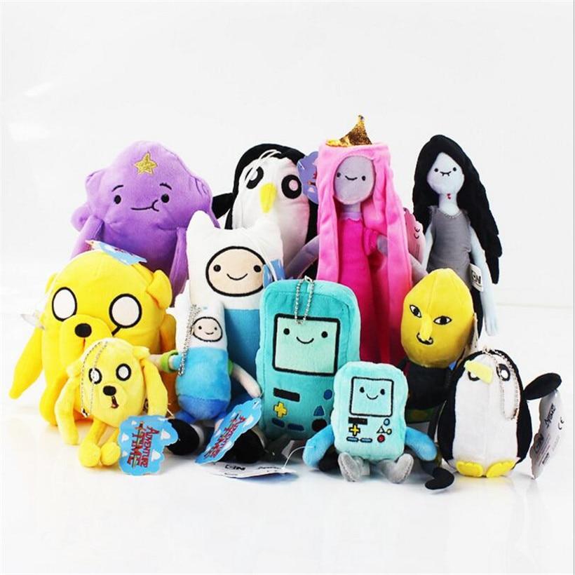 Kawaii 13 Styles 14 33cm Adventure Time Anime Plush Toys Finn Lumpy Space Princess Lady Rainicorn