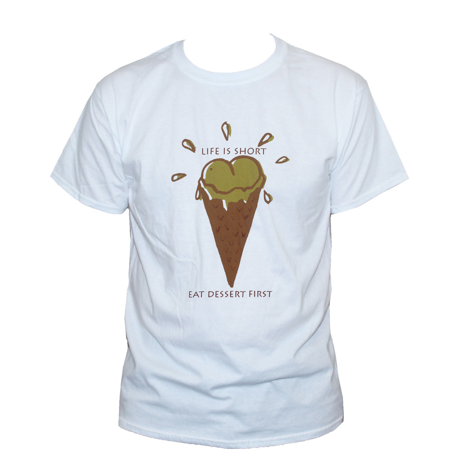 Funny Ice Cream T Shirt Rude Stag Hen Offensive Graphic Printed Tee S M L XL XXL Mens Print T-Shirt 100% Cotton Top Tee