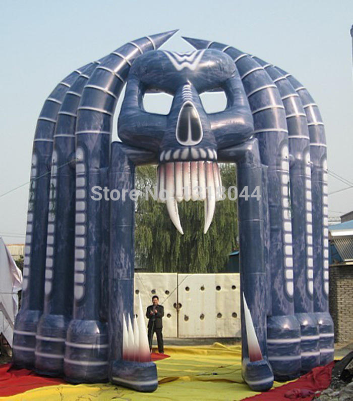 free shipping hot sale skull arch halloween inflatable outdoor decoration