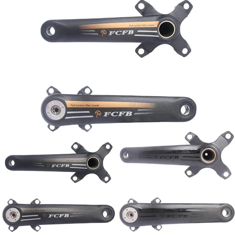 2017 FCFB carbon crank ,mountain bike bicycles  4 Claw MTB bike crankset lenght 170mm 175mm BCD104mm 64mm   gold  gray black
