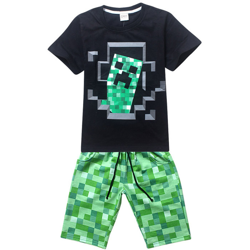 Boys Clothes Sets Short-sleeved Sports Suits Childrens Clothing Boys Set Cotton Sets Kids Clothes Clothing2018 Summer