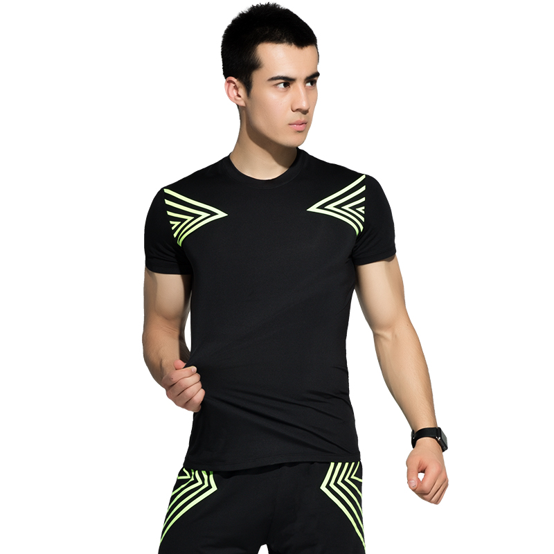 2018 Sports Suit Mens Quick Dry Running Sets Compression Fitness Tights Basketball Training Gym Jogging Suits Sportswear 2-3pcs