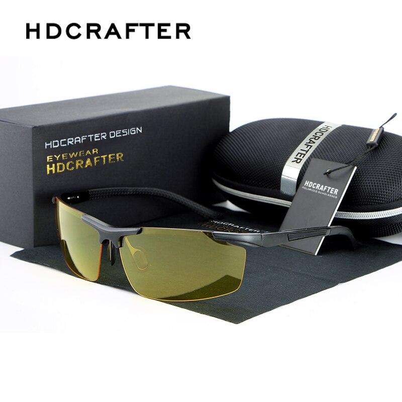 Marca designer óculos de sol polarizados homem uv400 condução óculos de sol masculino visão noturna óculos para homem óculos de sol