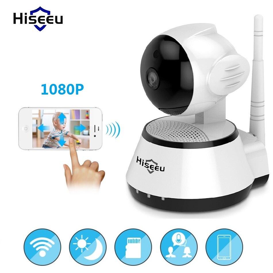 A raggi infrarossi wi-fi cctv 720 p 1080 p IP Camera Wireless Bayby Monitor 32g di Memoria di Sicurezza Domestica IRCut Visione Video di sorveglianza Hiseeu