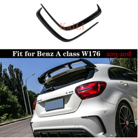 1Pair Car Black ABS Rear Bumper Splitter Canard for Mercedes for Benz W176 A200 A250 A45 Sport Model 2013 2018