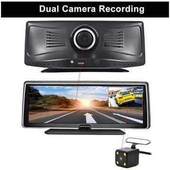 Bluavido 4G android dvr 8 inch screen car video camera gps navigation Full HD 1080P dash cam registrator recorder remote monitor